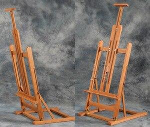Image 3 - Đa mục đích nâng sơn dầu giá vẽ gấp phác thảo giá vẽ nghệ sĩ triển lãm trưng bày đứng gỗ tranh cavalete bảng quảng cáo