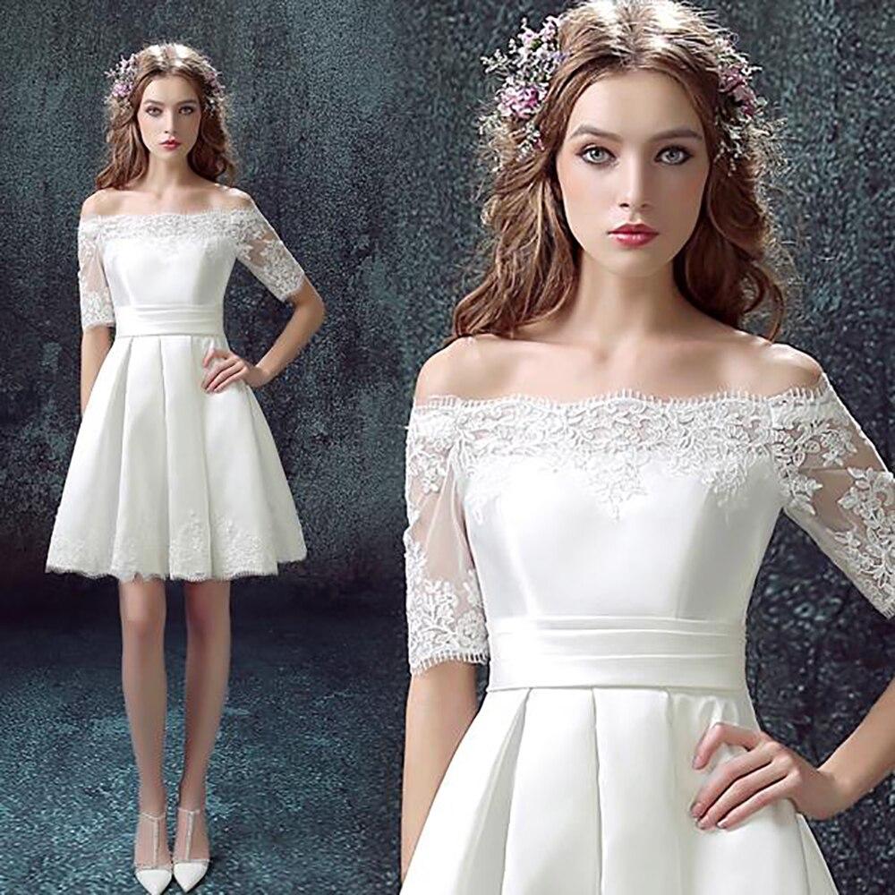 White Off the Shoulder Cocktail Dresses