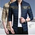 Winter jacket men 2016 New Fashion Trend Slim Casual Warm Down Parkas Brand Clothing Warm Patchwork Men Cotton jacket Down Coat
