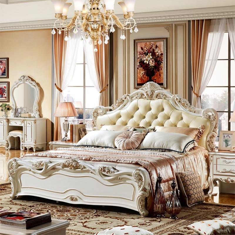 Modestil China Luxus König Schlafzimmer-sets Möbel
