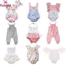 9 Styles Pudcoco Summer Newborn Clothes Infant Baby Girl Romper Floral Jumpsuit with Tassel Onesie