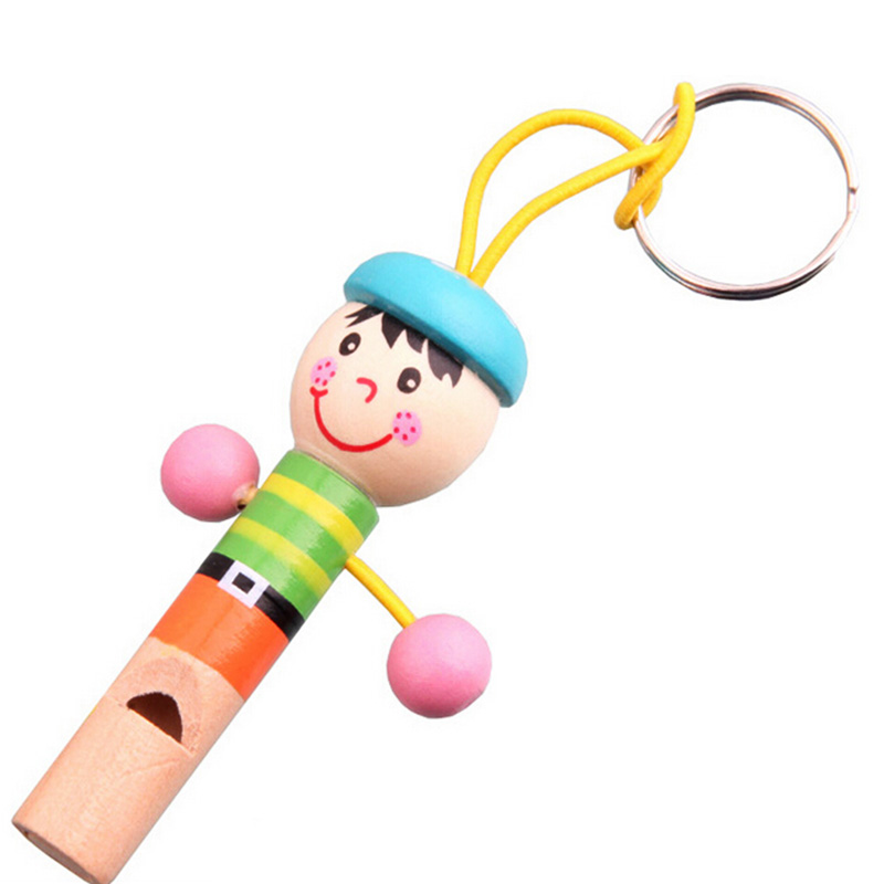 Mini Cartoon Pirate Wooden Kids Toy Whistle font b Musical b font font b Instrument b