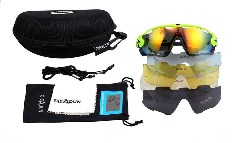 Cycling Glasses 5 Lens MTB bicycle sport bike sunglasses