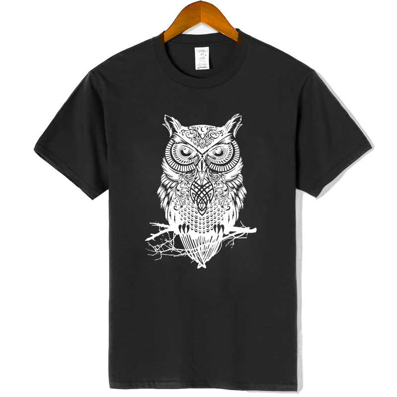 Woman new tshirts 100% cotton animal owl printed Women crewneck short sleeve tops pullover t shirt top