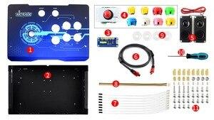Image 2 - Waveshare Arcade C 1P Zubehör Pack Arcade Konsole Gebäude Kit für Raspberry Pi 1 Player Unterstützt RetroPie/KODI