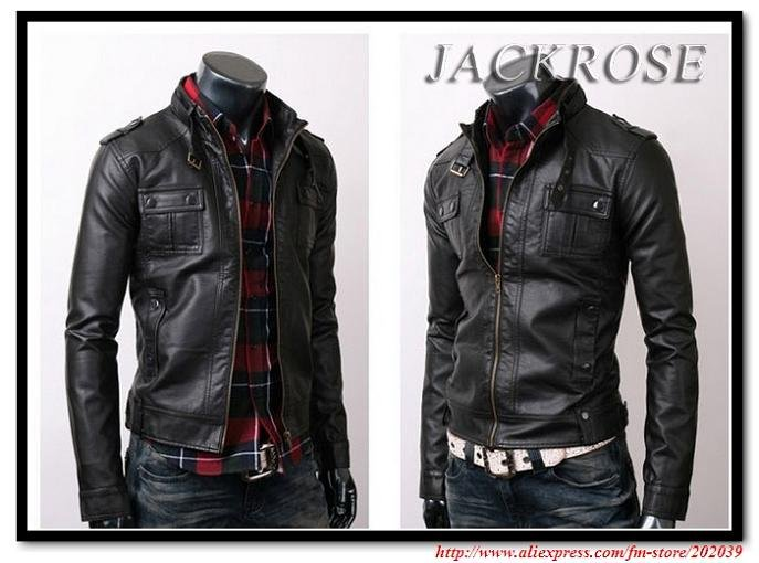 1cb519ddc US $53.69 |Men's jacket suppliers Men's Stunning Casual Rider leather  jacket skinny PU leather jacket-in Faux Leather Coats from Men's Clothing  on ...