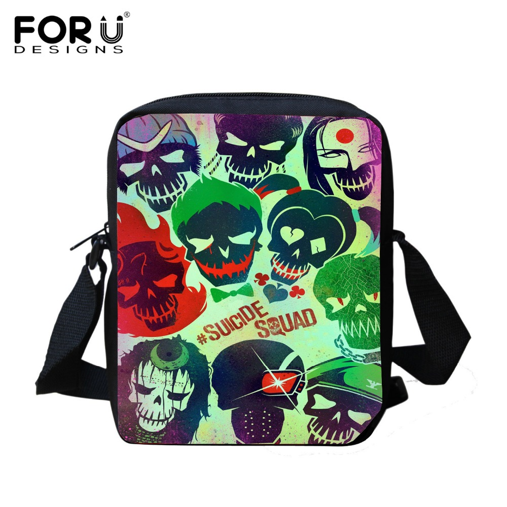 Hot Harley Quinn Suicide Squad font b School b font font b Bags b font for