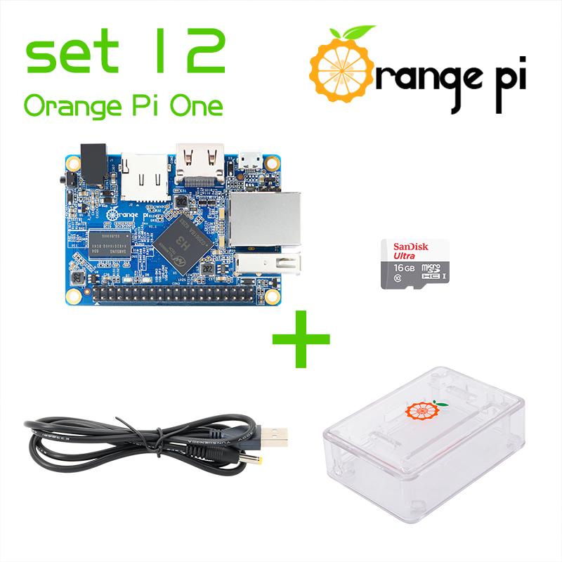 Prix pour Orange Pi Un SET12: Pi Un + Transparent ABS Cas + Câble D'alimentation + 16 GB Classe 10 Micro SD Carte Au-delà Framboise
