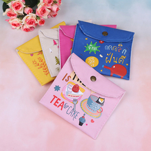 Girls Diaper Sanitary Napkin Storage Bag Canvas Sanitary Pads Package Bags Pouch Case Feminine Hygiene Health Care Product 2017 new casual candy color bags for girl cotton diaper sanitary napkin package bag storage organizer makeus bag free shipping
