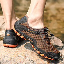 купить New Arrival Hiking Shoes Sneakers Sports Shoes for Men Rubber Soles Outdoor Walking Shoes Breathable Climbing Zapatos Hombre недорого