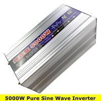 Peak Power 5000W Pure Sine Wave OFF Grid Inverter DC12V/24V to AC220V 50HZ/60HZ Converter Solar power inverter with Dual Display