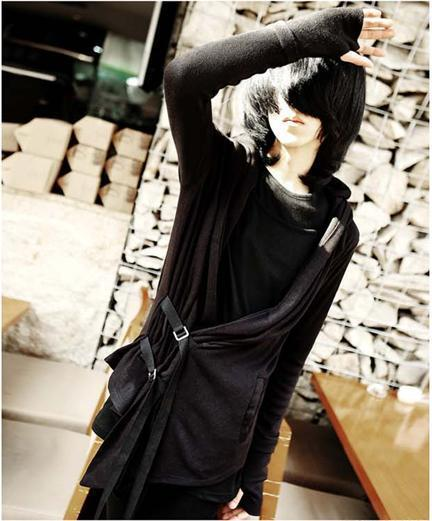 Character Cardigan Long Section Male Coat Alternative font b Men b font Little Cloak British Style