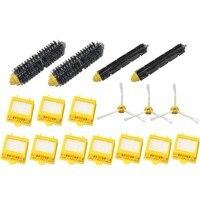 3 Armed Side Brush C Bristle Brush Flexible Beater Brush Pack Kit For IRobot Roomba 700