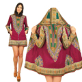 Moda África dashiki impreso señora de manga larga viento escudo chaqueta de los hoodies mujeres abrigo de algodón batik tradicional clásico prining