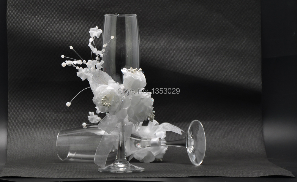 4pcs set beautiful wedding champagne glass wedding cake for Aana decoration wedding accessories