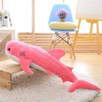 Grand 100 cm rose dessin animé baleine peluche peluche doux oreiller cadeau de noël b0875