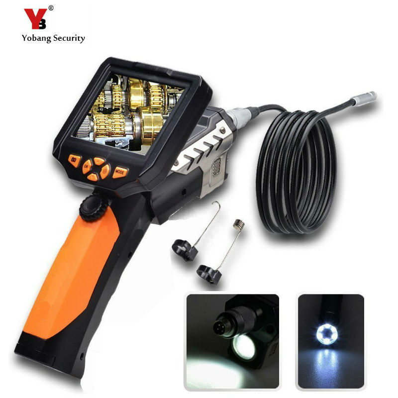 Yobang Security 8.2MM Endoscope Inspection Camera with 3.5 Inch Monitor Tube Pipe Inspection Camera Video Cam 360 Degree Rotate