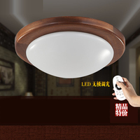 Chinese Style Africa Sapele wood Round led ceiling lights for bed room light fixture indoor lighting