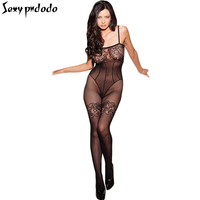 Black Fishnet Womens Sexy Lingerie Hot Floral Lace Negligee Erotic Body Stockings Tights Seamless Pantyhose Crotchless