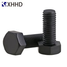 M3 M4 M5 Black Nylon Hex External Hexagonal Screw Insulation Plastic Outside Metric Full Thread Machine Bolt PA66