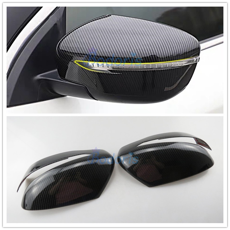 Carbon Fiber Car Styling S Mirror Cover Rear View Overlay 2015 <font><b>2016</b></font> 2017 2018 2019 For <font><b>Nissan</b></font> <font><b>Qashqai</b></font> Rogue Sport <font><b>Accessories</b></font> image