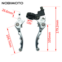 Aluminum Alloy Folding Clutch Lever Brake Lever Fit To CRF KLX Pit Pro Pit Dirt Bike