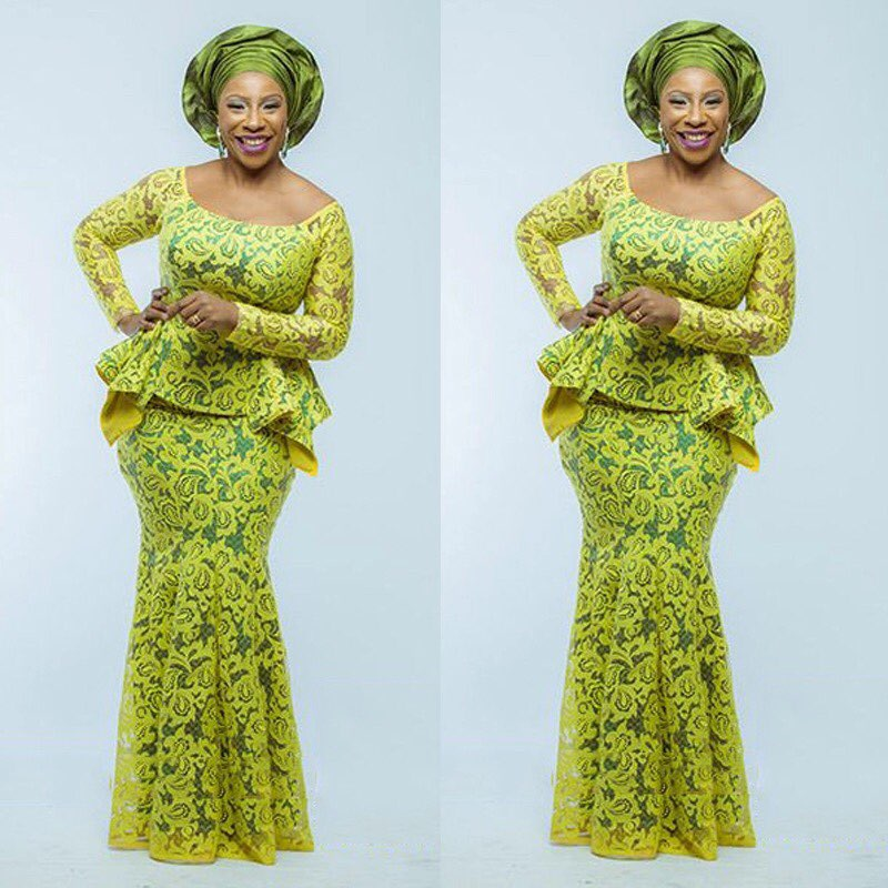 Aso Ebi Style Yellow Mermaid Evening Dress Long Sleeve Lace Nigerian Evening Party Gowns Plus Size Fashion African Prom Dresses