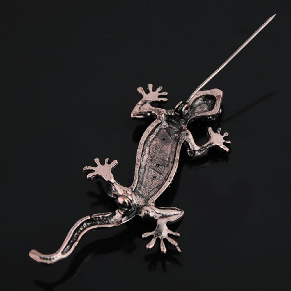 aliexpress com buy td awesome vintage copper tone crystal lizard