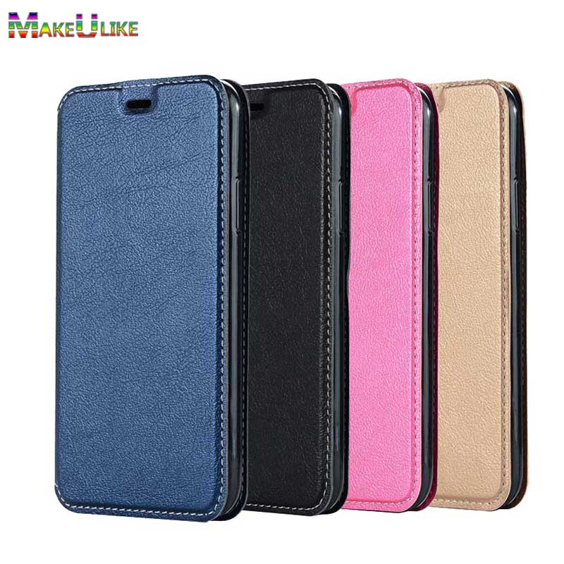 MAKEULIKE Simple Flip Case For iPhone X iPhoneX Cover PU Leather Magnetic Phone bags Cases For iPhone X 10 7 8 Plus Hoesje
