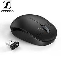 SeenDa Geruisloze 2.4 GHz Draadloze Muis voor Laptop Draagbare Mini Mute Muizen Stille Computer Muis voor Desktop Notebook PC Mause