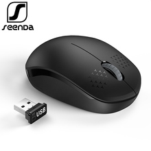 SeenDa Noiseless 2 4GHz Wireless Mouse for Laptop Portable Mini Mute Mice Silent Computer Mouse for