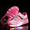 LED Roller Skate Shoes For Women Single Wheel Breathable Comfortable  New Sports Shoes USB Recharged Shoes