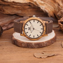 KENON 2017 Hot Sell Sports Dress Casual Natural Wood & Bamboo Watch With Canvas Band With Wooden Box for mens Gifts