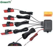 Car LED Parking Sensor Monitor Reverse Backup Radar Detector Parktronic Backlight Display + 13mm Original Flat Sensors 6 Colors