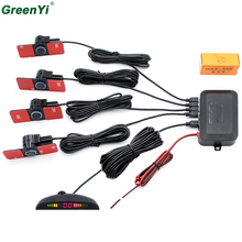 Светодио дный парковочный датчик с 4 датчиками Авто парковочные датчики Реверс 6 цветов резервный парковочный радар монитор детектор дисплей подсветка