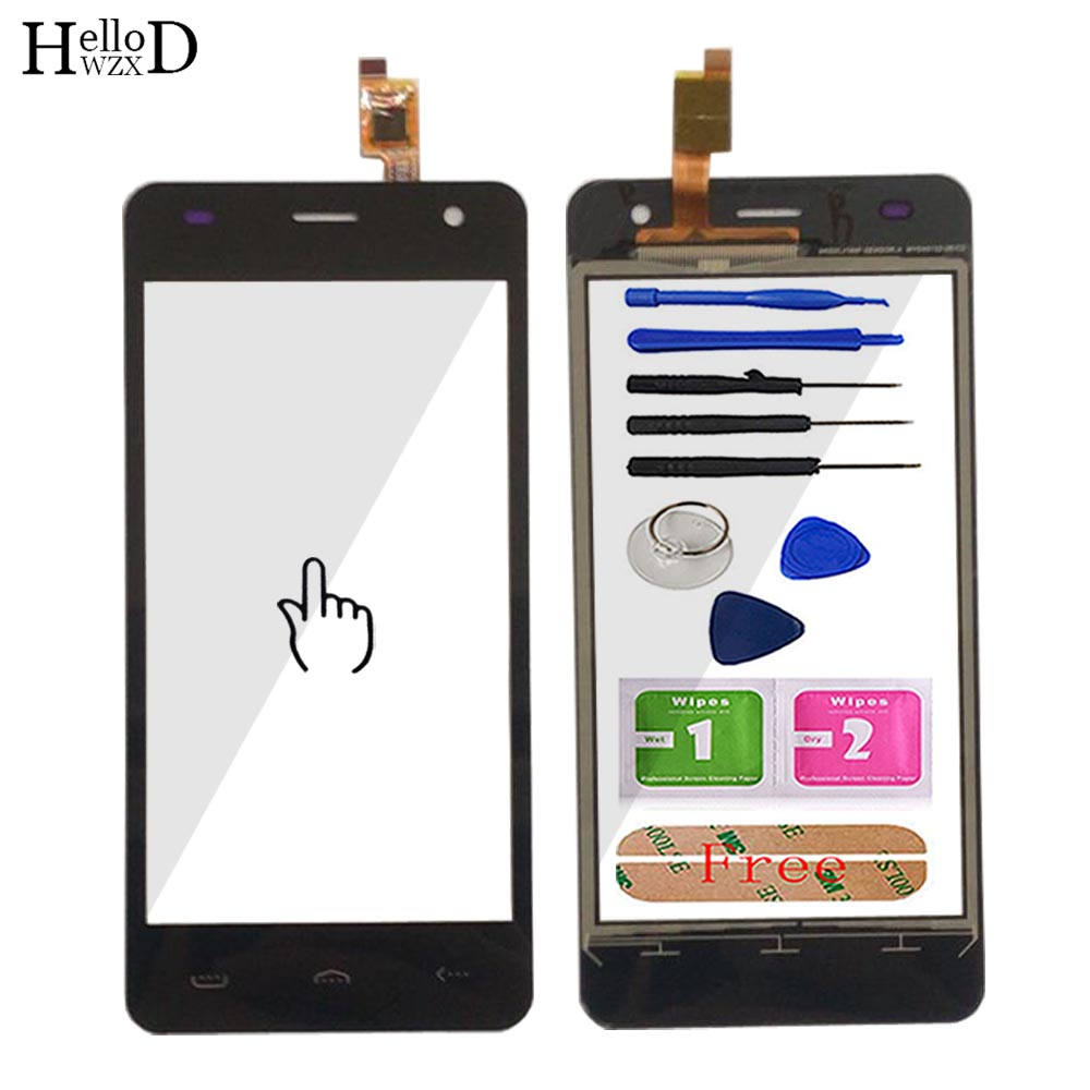 Mobile Touch Screen For Homtom HT26 Touch Screen 4.5'' Touch Panel Sensor Cell Phone Digitizer For Homtom HT26 Touch Panel Tools(China)