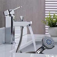 BAKALA Luxury Brass Washbasin Faucet Hot And Cold Water Mixer Mixer Tap With Hand Shower Head hole G-8047
