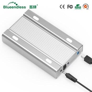 Blueendless 3.5 pollice interamente in metallo caso hdd mobile hard disk box USB 3.0 sata 5 gbps hard drive SATA hdd enclosure alluminio shell