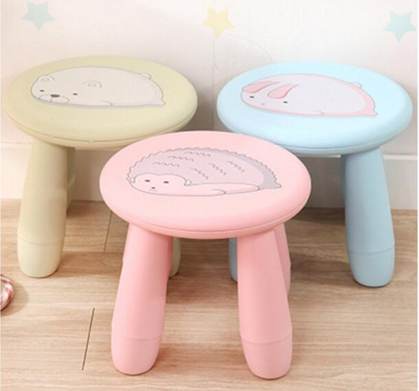 Eco-friendly Portable Cartoon Stools Thicken Skidproof Children's Stool