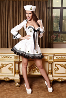 Free Shipping Sexy lingerie female navy sailor suit game uniforms temptation Halloween Costume DS Underwear skirt
