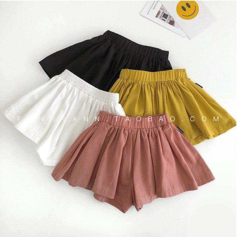 Шорты для девочек; повседневные пляжные шорты; детские хлопчатобумажные шорты; летние милые детские шорты; красивые плиссированные короткие штаны; элегантные