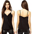 Hot Sale Summer Women Deep V-neck Vest Black Sleeveless Suspenders Ladies Nightclub Wear Sexy Shirt Plus Size Tank Tops S-XL