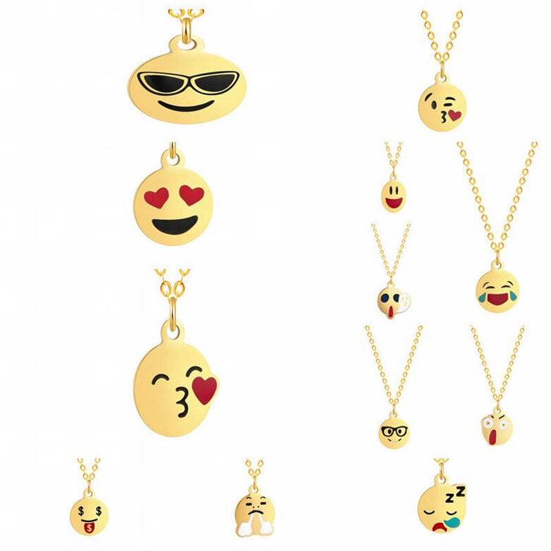 Pendant Necklaces Systematic Qiamni Handmade Cartoon Happy Face Smile Emoji Necklace Pendant For Women Round Various Expression Choker Collars Birthday Gifts Low Price Necklaces & Pendants