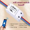 Itead Sonoff Interruptor Wifi Smart Casa Inteligente sistema de Controle Remoto Sem Fio do Temporizador Interruptor Universal para Dispositivos Elétricos da Lâmpada Luz