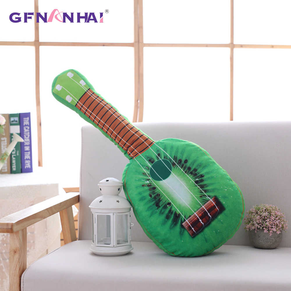 1 шт. 65 см творческий моделирования фрукты Гитары плюшевые игрушки Мягкий Оранжевый киви арбуз Подушка Детская смешной подарок на день рождения