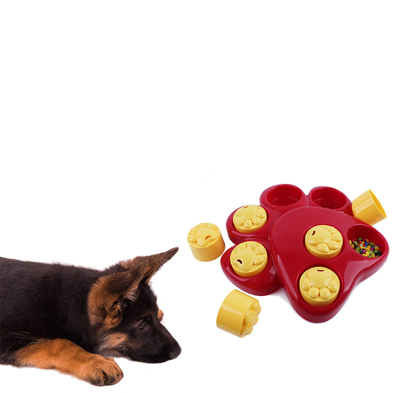 Dog Training Puzzle Toy Hide Treat Multi-function Games Food Dispensing Interactive Paw Puzzle Slowing Eating Dogs Pet Toy