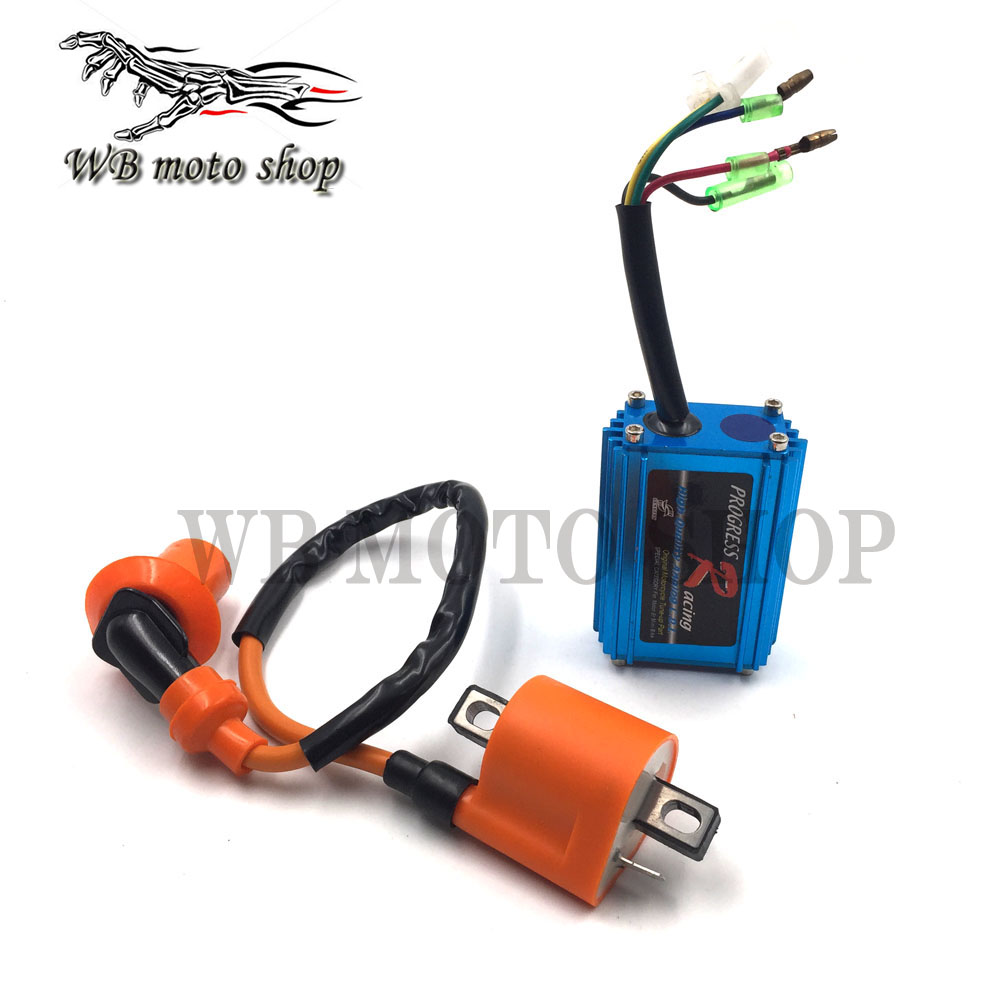 high performance 5 pin racing cdi box ignition for yamaha jog scooter moped 2 stroke jog [ 1000 x 1000 Pixel ]