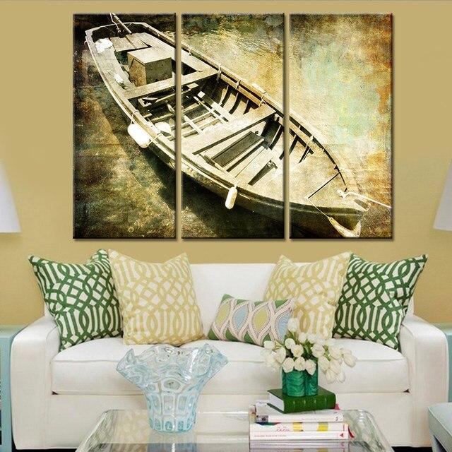 Online Shop 3 Pieces/sets Canvas Art HD Old 3 Panel Ship Canvas ...