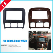 2Din Car Radio Fascia for 2006 Mercedes BENZ S CLASS S-Class W220 2 Din Trim Panel Installation Kit DVD Frame Stereo Player seicane good double din car radio fascia for 2009 2011 chevrolet cruze stereo dvd player install frame surrounded trim panel kit