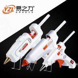 30 Вт 80 Вт 100 Вт EU/Plug термоплавкий клеевой пистолет 7 мм клеевой карандаш промышленные мини пистолеты термоклеевой термоклей температурный ин...
